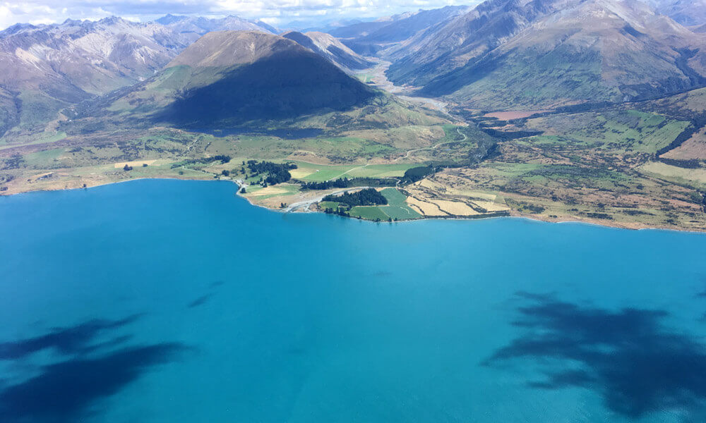 セスナ機上空から見たニュージーランド