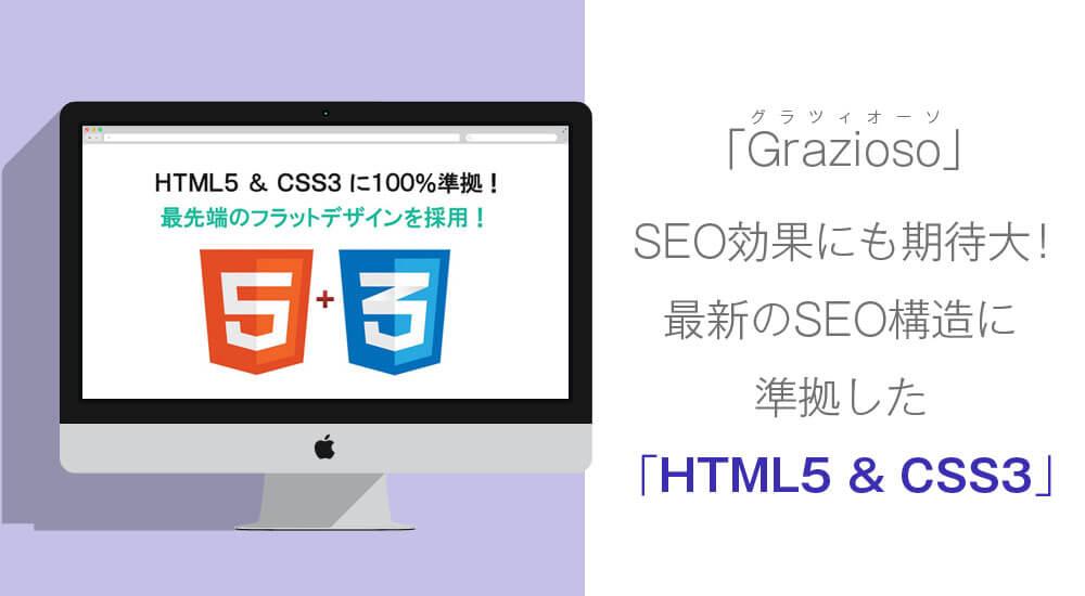 graziosoはHTML5&CSS3に100%準拠