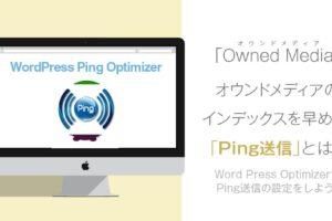 Ping送信とは?WordPress Ping Optimizerの設定方法と使い方